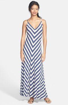 Max & Mia V-Neck Maxi Dress (Regular & Petite) available at #Nordstrom