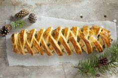 Pleciony kulebiak z kapustą i grzybami