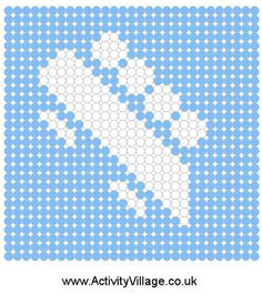 Fuse bead bobsleigh pattern