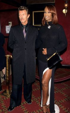 David Bowie and Iman during 'Meet Joe Black' New York Premiere at Ziegfeld Theater in New York City, New York, United States. (Photo by Ke.Mazur/WireImage) via @AOL_Lifestyle Read more: http://www.aol.com/article/2016/01/11/david-bowie-and-iman-had-a-storybook-romance-for-25-years/21295537/?a_dgi=aolshare_pinterest#fullscreen