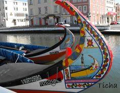 Moliceiros boats at the Ria de #Aveiro #Portugal