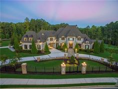 #LuxeListing of the Day: This gated estate is the pinnacle of luxury living on four private acres in Milton GA. For more information click the link in the bio and search Web ID: CXYZ @beachamcorealtors