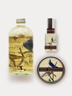 Sencha Bleu Classic Collection Gift featuring Bubble Bath, Perfume, and Scented Candle
