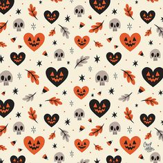 motif celebrating the scariest time of the year! A motif celebrating the scariest time of the year!, A motif celebrating the scariest time of the year! Halloween Vintage, Theme Halloween, Halloween Inspo, Halloween Patterns, Holidays Halloween, Spooky Halloween, Halloween Decorations, Halloween Cover Photos, Halloween Artwork