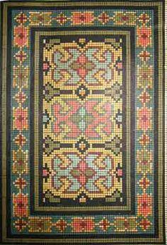 МАСТЕР-КЛАСС. миниатюрный ворсовый ковёр