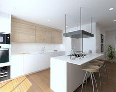 Kitchen Room Design, Modern Kitchen Design, Living Room Kitchen, Kitchen Decor, Küchen Design, House Design, My Ideal Home, Dining, Furniture