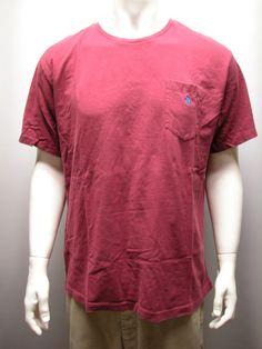 Polo Ralph Lauren Maroon Men's Cotton Pocket T Shirt Sz XL Pony Logo #RalphLauren #BasicTee