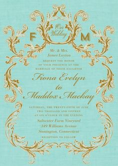 An elegant wedding invitation design with a timeless feel. This classic design is paired with a full suite of wedding stationery needs, from save the date cards to menu cards.
