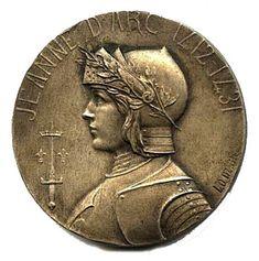 Jeanne D'Arc Medal. Front View.