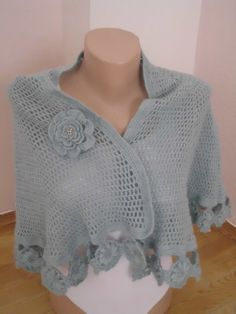Wedding Bridal almond gray mohair wool shawl by redrosewholesaler, $52.00