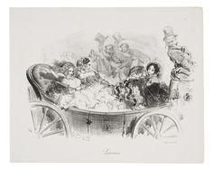 Gustave Doré (French, 1832–1883), Lionesses (Lionnes), from the series Parisian Menagerie (Ménagerie Parisienne). Lithograph, 1854
