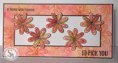 Marie Jones - Spectrum Noir Sparkle Pens - Moonlight, Harvest Moon, Red Berry - Floral Delight Stamp set - Black Archival ink - Watercolour card - Matt Black card - Collall 3D glue - Rock Salt #spectrumnoir #crafterscompanion
