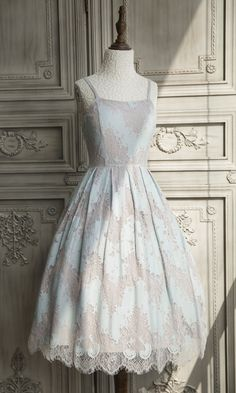 The Ninth Planet -Where The Flowers Blossom- Vintage Classic Lolita Jumper Dress,Lolita Dresses, Lovely Dresses, Women's Dresses, Vintage Dresses, Fashion Dresses, 1950s Dresses, Modern Vintage Dress, Vintage Clothing, Retro Outfits, Vintage Outfits