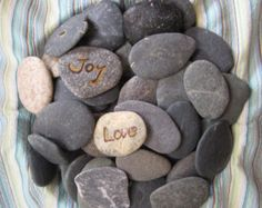 100 Small Beach Stones--DIY Beach Wedding Decor-Wedding Wishing Stones