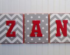 Wall Letters Upholstered Letters Nursery Letters by fabbdesigns