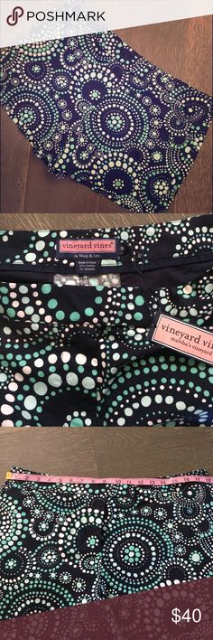 """Vineyard Vines NWT shorts Gorgeous size 14 Vineyard Vines shorts. New with tags! Perfect for spring. Measures approx. 13"""" long, 18"""" wide when laying flat & two faux pockets on back. Vineyard Vines Shorts"""