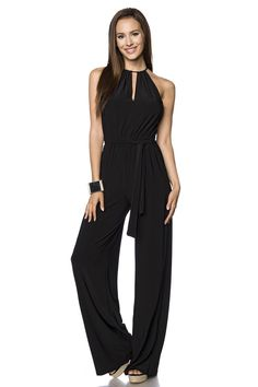 XOXO Juniors Jumpsuit, Sleeveless Cutout Illusion Palazzo Pants - Juniors Jumpsuits & Rompers - Macy's from Macys. Saved to Cute Pants👖. Short Jumpsuit, Black Jumpsuit, Palazzo Pants Online, One Shoulder Jumpsuit, Cute Pants, Norma Kamali, Romper Pants, Shorts, Trends