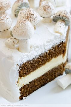 Guinness Gingerbread Cake with Lemon Filling and Meringue Frosting, from Baking Obsession.