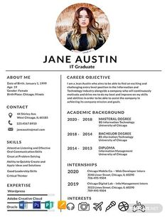 Basic Fresher Resume Template If you like this design. Check others on my CV template board :) Thanks for sharing! Resume Design Template, Resume Templates, Resume Software, Design Resume, Cv Templates Free Download, Creative Cv Template Free, Free Cv Template, Resume Cv, Free Resume
