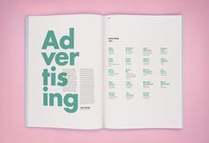 imnotagraphicdesigner: double spread from The Art Directors Club Annual book by DDB New York Pub Design, Book Design, Book Layout, Page Layout, Layouts, Editorial Layout, Editorial Design, Design Poster, Print Design