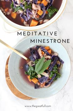 Meditative Minestrone - A Recipe for Mindful Cooking Tasty Vegetarian Recipes, Easy Healthy Recipes, Healthy Meals, Easy Meals, Easy Cooking, Cooking Tips, Cooking Recipes, Lunches And Dinners, Good Food