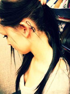 55 Cute behind the ear tattoo- Family