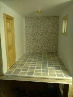 A floor in a bathroom