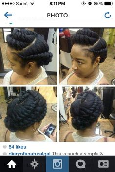 Flat twist hair style