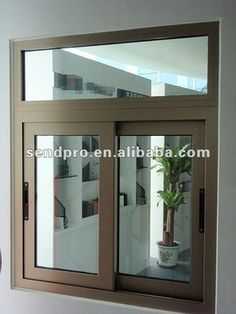 Office partitions,Glass windows and aluminium section work in . Sliding Window Design, Sliding Glass Windows, House Window Design, Aluminium Windows, House Design, Slider Window, Window Grill, Grill Door Design, House Extension Design