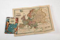 vintage style europe map by i love retro | notonthehighstreet.com  Christmas ideas 2013