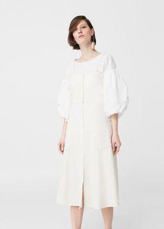 Buttones cotton dress | MANGO