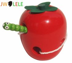 JWLELE The Caterpillar Eats The Apple Wooden Puzzle Educational Toys For Children #Affiliate