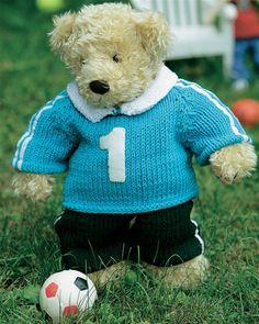 Sejt fodboldtøj til build-a-bear - Hendes Verden Build A Bear, Baby Born, Alter, Dolls, Teddy Bears, Knitting, Building, Animals, Clothes