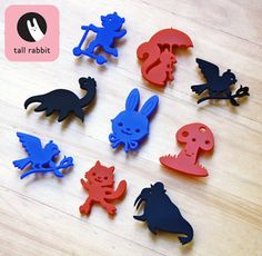 Laser cut brooches