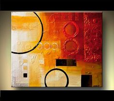 abstract artcircles   Abstract Painting Geometric Art Red Abstract Art Circles Textured ...