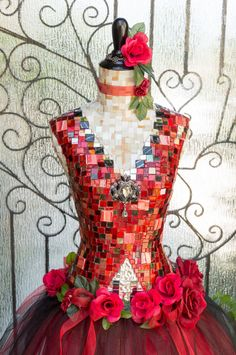 Women's Dress form Mannequin Mosaic Art Don by Mosaicsbycarrie