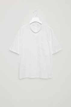 COS   Cotton jersey and poplin top