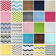 Personalized Chevron Minky Fitted by DandilionWishes on Etsy, $24.99
