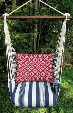 fun striped swing chair