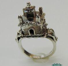 beautiful 925 sterling silver jewish wedding ring judaica - Jewish Wedding Rings