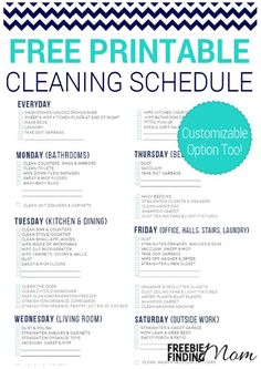 Free Printable Cleaning Schedule. Passionate Penny Pincher is the #1 source printable & online coupons! Get your promo codes or coupons & save.