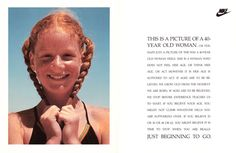 ShoeGirl Corner: Forgotten Nike Ad: This is a Picture of a 40-Year Old Woman