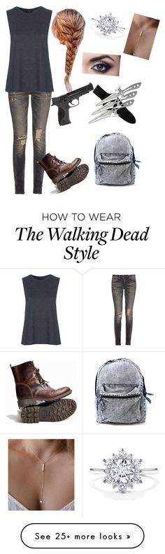 """The walking dead"" by pudda176 on Polyvore featuring mode, R13, Smith & Wesson et Topshop"