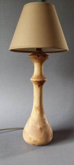 Wooden Table/Bedside Lamp ( Hazel ) by Devonturnings on Etsy