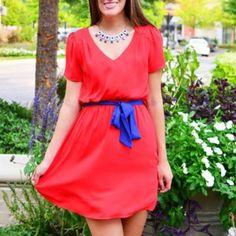 Pink Bombshell Such an adorable red dress.  601.853.0775 @shoppinkbombshell @renaissanceatcolonypark #shoprenaissance #fashion #fall2013 #red #blue