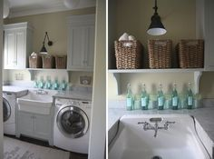 Laundry, don't know if I'd want washer and dryer separated.  But the look is exceptional