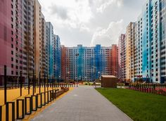 Moscow colorfull residential complex Massimo Iosa Ghini