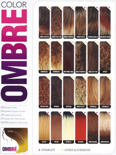 General Ombre Color Chart