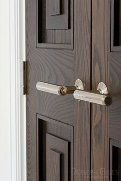 Joseph Giles Stepped End Lever Handles on Stepped Panelled Double Doors