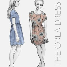 Orla free dress pattern by French Navy for woven fabrics